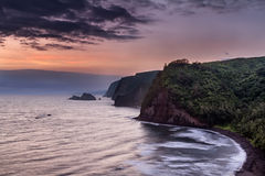 Восход солнца над долиной Pololu Стоковая Фотография