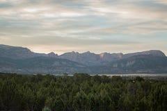 Восход солнца над 5 пальцами Стоковые Фото