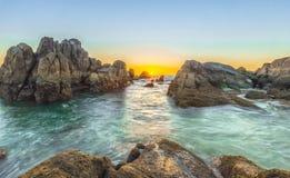 Восход солнца на побережье рифа Стоковая Фотография RF