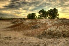 Восход солнца на поле Стоковые Фото