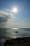 Восход солнца на пляже в Таиланде Стоковое Изображение