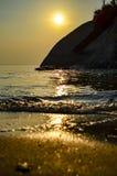 Восход солнца на пляже в Таиланде Стоковая Фотография RF