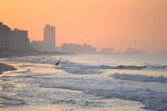 Восход солнца на пляже Стоковое Фото