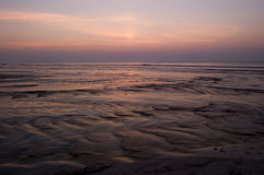 Восход солнца на пляже Стоковые Изображения