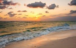 Восход солнца на Punta Cana, Доминиканской Республике Стоковые Изображения RF