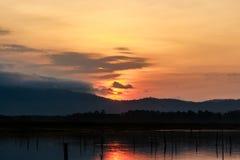 Восход солнца на резервуаре Стоковое Фото
