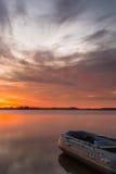 восход солнца на реке Стоковые Изображения RF