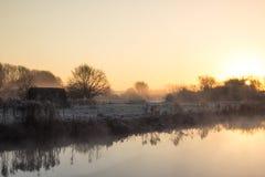 Восход солнца над рекой Темзой Стоковые Фотографии RF