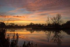 Восход солнца над рекой Темзой Стоковая Фотография RF