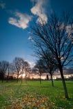 Восход солнца на садах Kensington, Лондон стоковые изображения rf