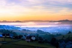 Восход солнца на сельской местности Стоковое Фото