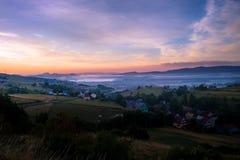 Восход солнца на сельской местности Стоковая Фотография