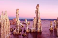 Восход солнца на туфе Mono озера Стоковое Изображение