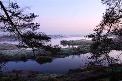 Восход солнца над черепашкой Стоковая Фотография