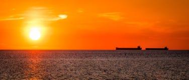 Восход солнца на Чесапике Стоковая Фотография RF