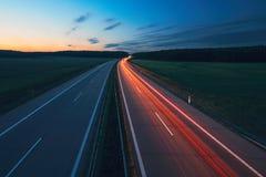 Восход солнца на шоссе Стоковые Фотографии RF