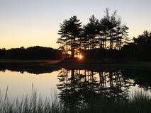 Восход солнца на этап Kittery Стоковые Изображения RF