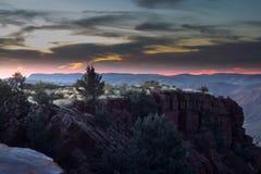 Восход солнца над clifs, держатель Брюс западная Австралия Стоковые Фотографии RF