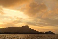 Восход солнца на Diamondhead Стоковая Фотография