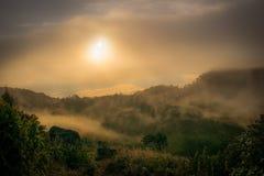 Восход солнца на Doi Luang Chiangdao Стоковое Изображение RF