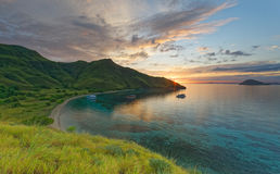 Восход солнца на Gili Laba/Lawa стоковые изображения
