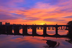 Восход солнца на Harrisburg Стоковые Изображения