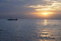 Восход солнца на Lovina Стоковое фото RF