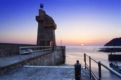Восход солнца на Lynmouth Стоковое Изображение