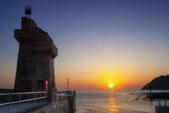 Восход солнца на Lynmouth Стоковая Фотография