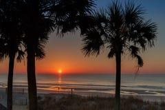 Восход солнца над Myrtle Beach Стоковые Изображения