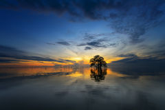 Восход солнца на Pakpra Стоковая Фотография