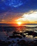 Восход солнца на Pantai Batu Hitam стоковое изображение rf