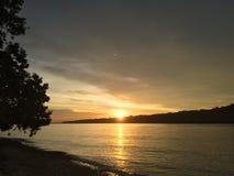 Восход солнца на peucang Стоковые Фотографии RF