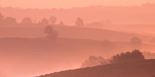 Восход солнца над Posbank Стоковые Фото