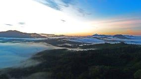 Восход солнца на Ranau Сабахе Стоковое фото RF