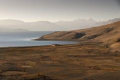 Восход солнца на Tso Moriri озера, Ladakh, Индии Стоковая Фотография