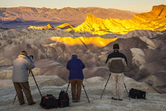 Восход солнца на Zabriskie Стоковые Изображения RF