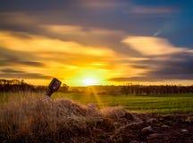 Восход солнца нерезкости движения стоковые изображения