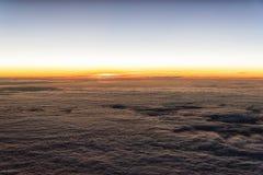 Восход солнца облака Стоковые Изображения