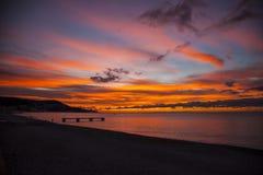 Восход солнца огня стоковая фотография rf