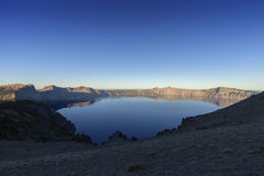 Восход солнца озера кратер Стоковое Фото