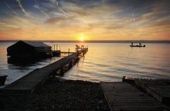 Восход солнца озера Стоковые Фотографии RF