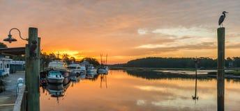 Восход солнца дока Стоковое Изображение