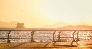 Восход солнца океана Даляни квадрата Yun Стоковое Изображение