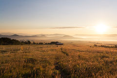 Восход солнца около Westcliffe, Колорадо Стоковое Фото