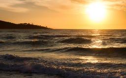 Восход солнца осени в облаках заворота Стоковое Изображение RF