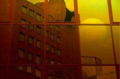 Восход солнца 1 отражения здания Offie Стоковые Изображения