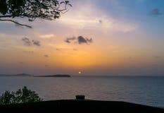 Восход солнца от вершины горы Стоковое Изображение