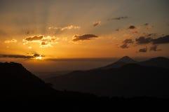 Восход солнца от вулкана Telica, Никарагуа Стоковое Изображение