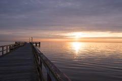 Восход солнца от пристани Стоковые Фото